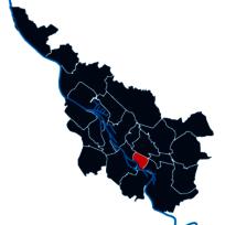 Abbildung der Stadtteile von Bremen