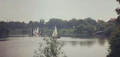 Blick von der Pauliner Marsch aus auf die Weser