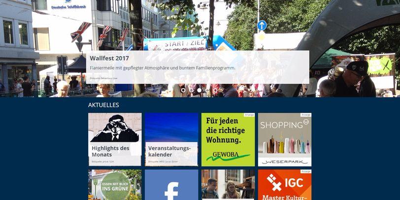 Screenshot Startseite bremen.de