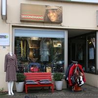 Außenansicht von einem Secondhand Geschäft im Viertel
