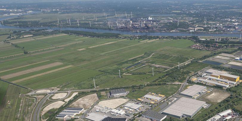 Eine Ansicht von Bremen-Seehausen aus der Vogelperspektive; Quelle: WFB/Studio B