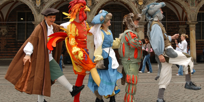 Die Bremer Stadtmusikanten vom Theater Interaktiwo (Foto: Theater Interaktiwo / Norbert A. Müller)