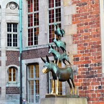 Die Statue der Bremer Stadtmusikanten von Gerhard Marcks