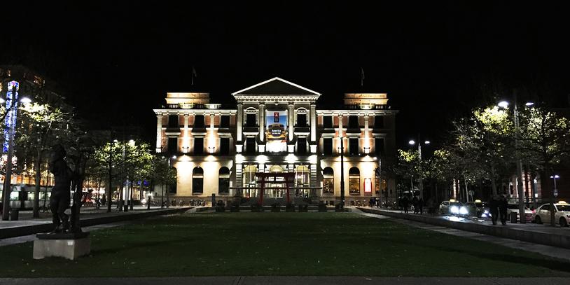 Nachtaufnahme des Übersee-Museum