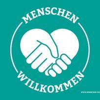 """Plakat """"Menschen willkommen""""; Quelle: www.menschen-willkommen.org"""