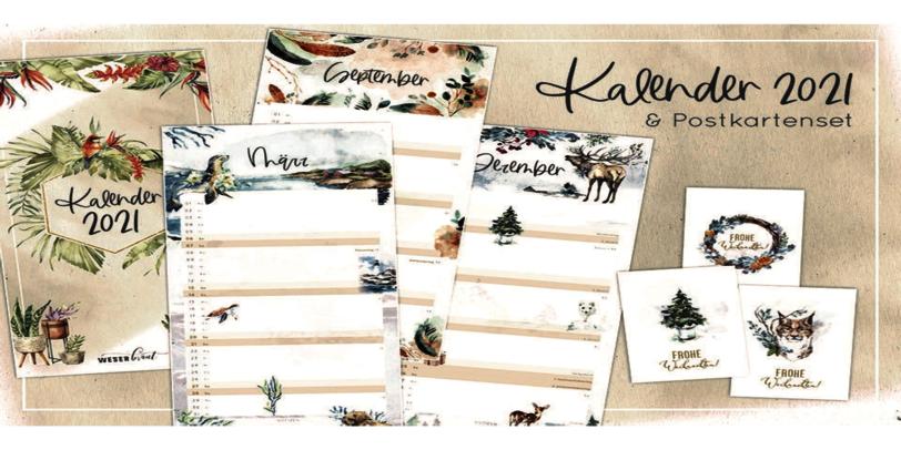 Kalender und Postkarten von Weserbraut