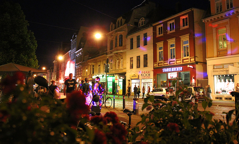 Ostertorsteinweg bei Nacht