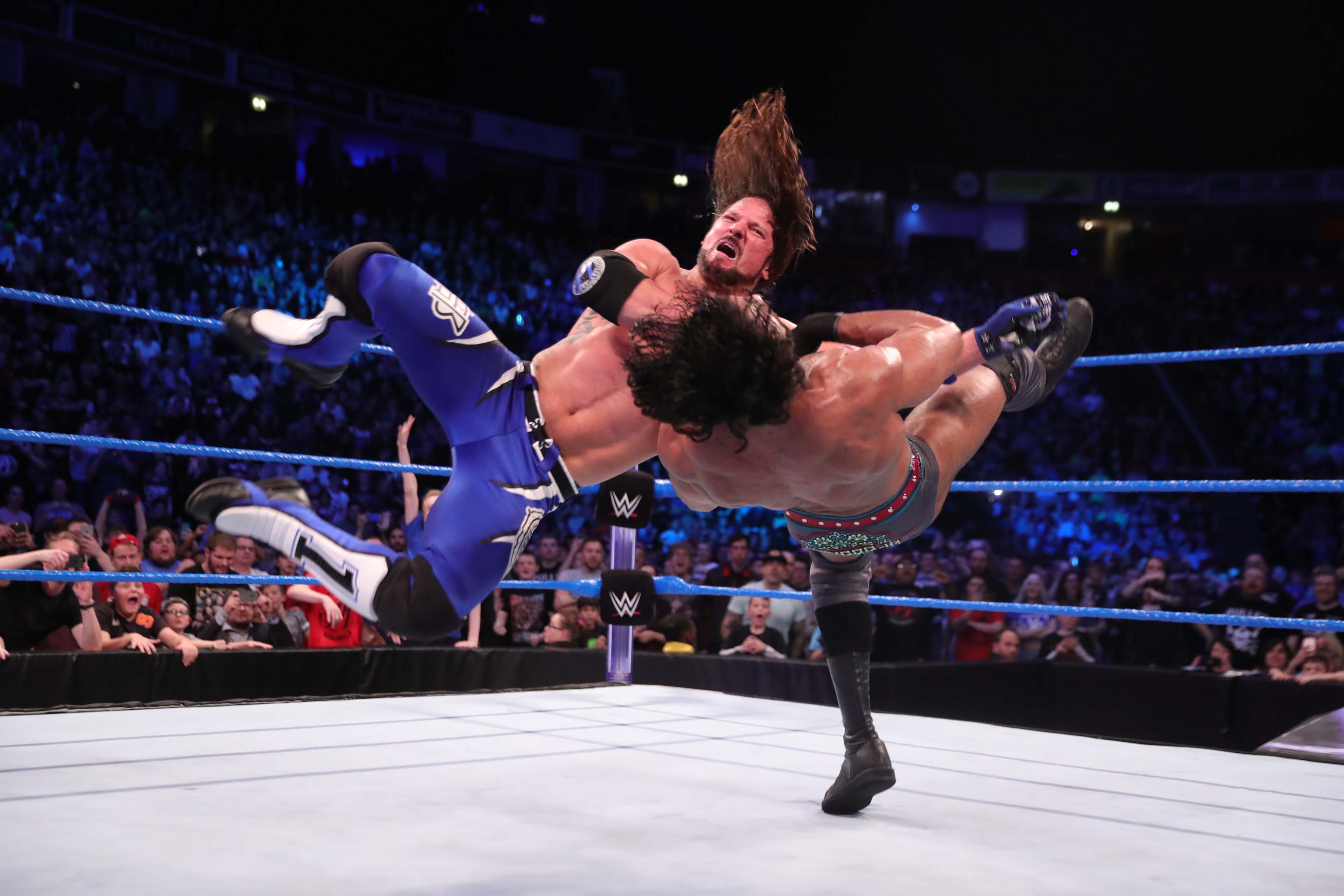 Eine Wrestling-Szene aus dem Ring