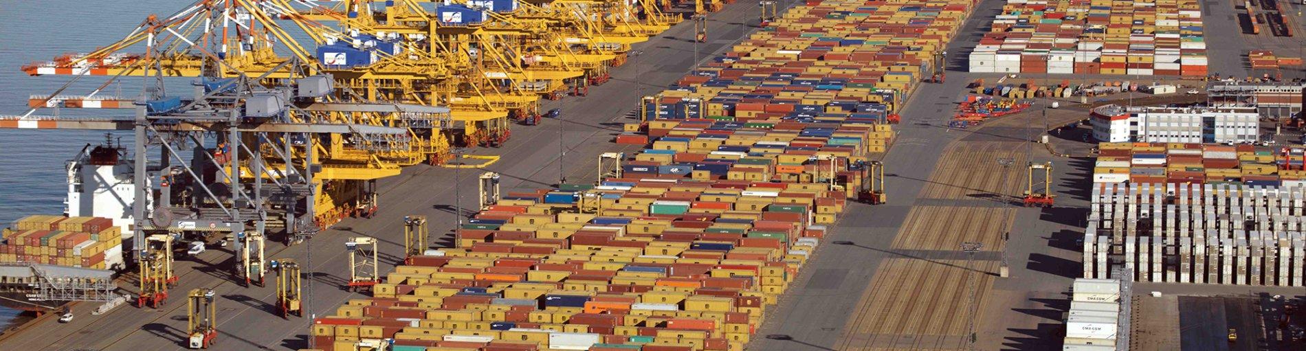 Container Terminal CT1 16.4.14 (Quelle: bremenports und BLG LOGISTICS)