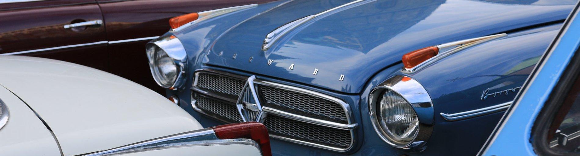 Verschiedene klassische Borgward-Modelle.