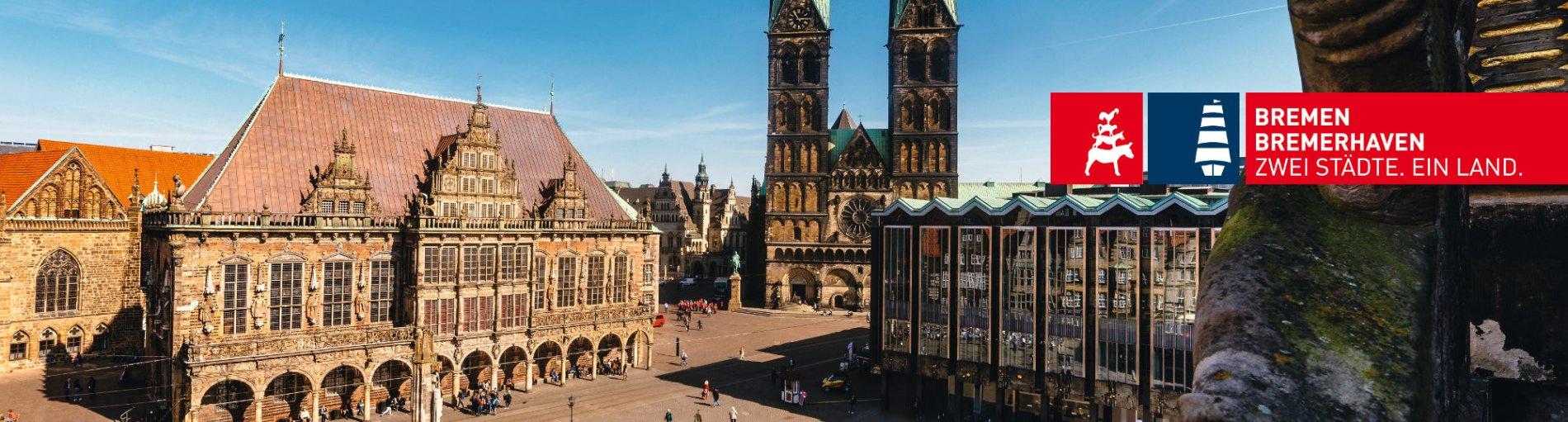 Rathaus und Marktplatz von Bremen