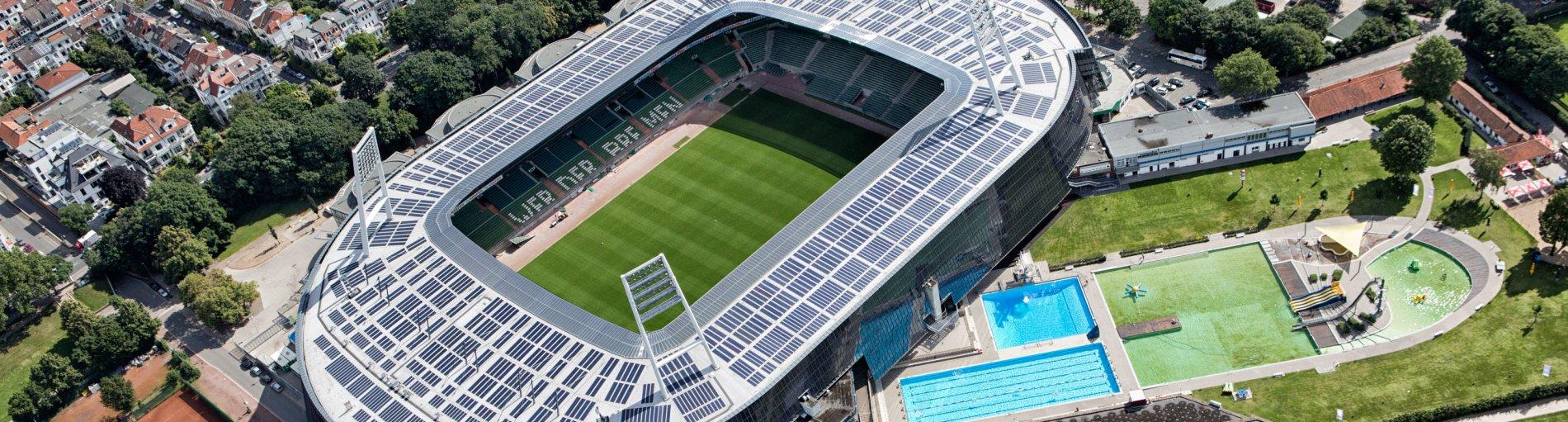 Ansicht des Weser-Stadions aus der Luftperspektive