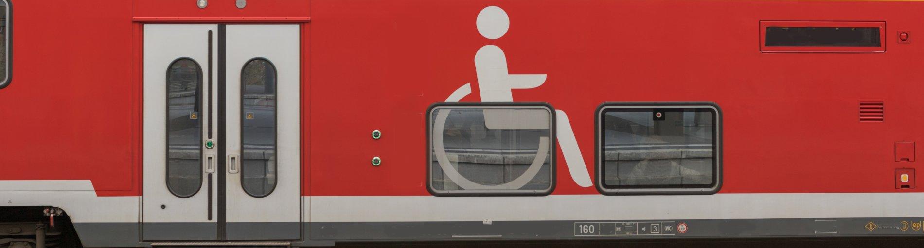 Barrierefreier Regionalzug.