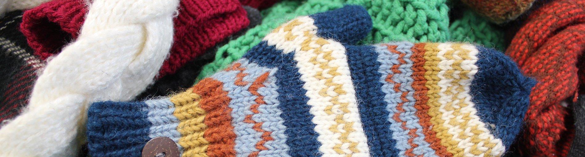 Wollhandschuhe und Schal