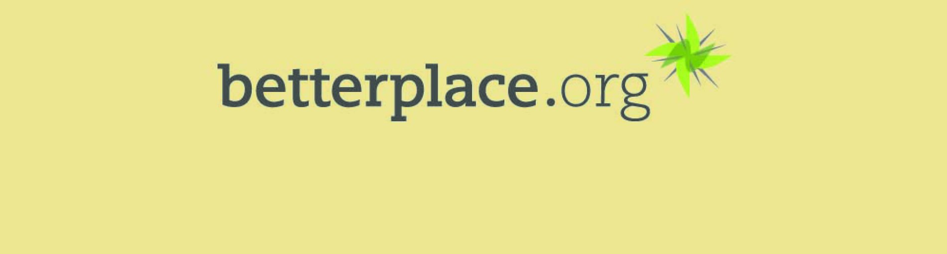 Das Logo der Spendenplattform betterplace.org; Quelle: betterplace.org