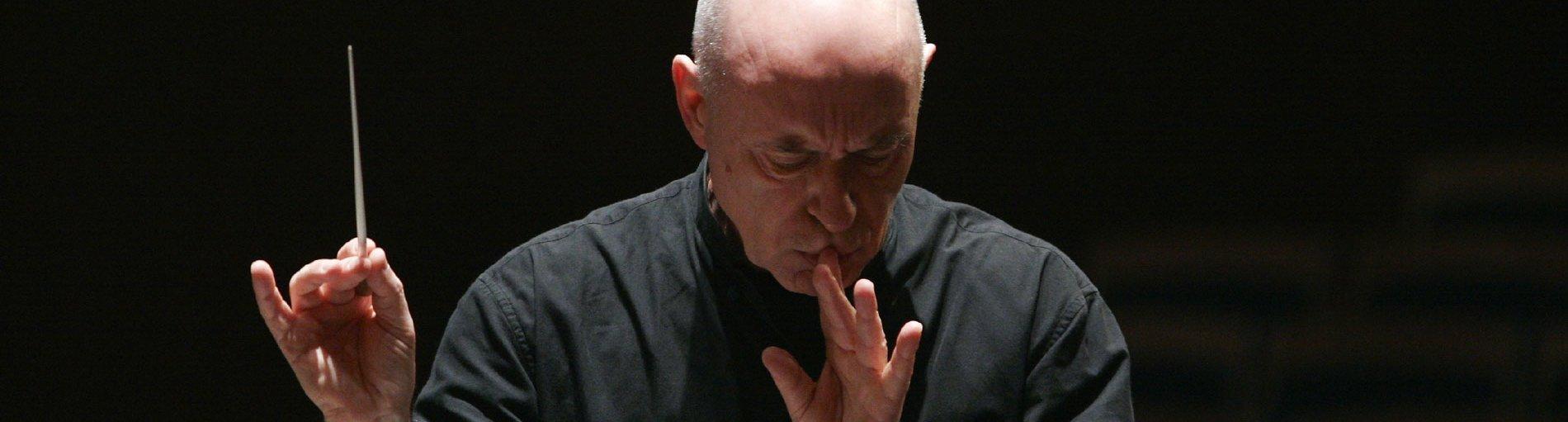 Der Leiter des Elbphilharmonieorchesters Christoph Eschenbach