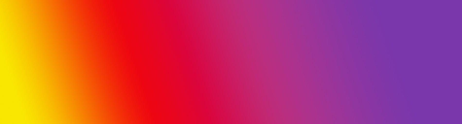 Der typische Instagram Farbverlauf von gelb über rot und pink bis lila