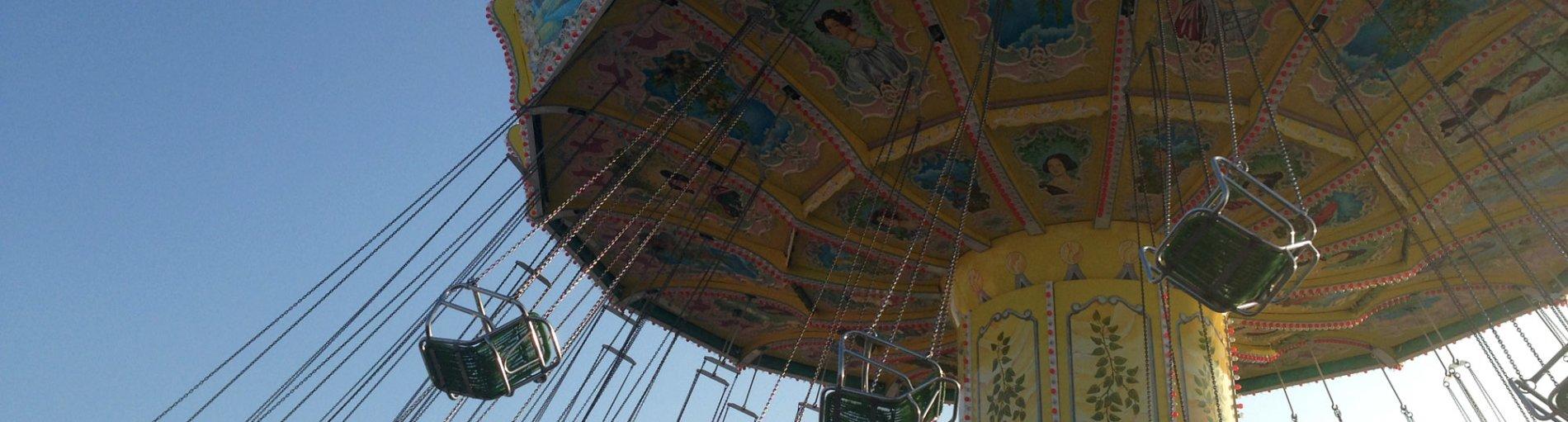 Ein Ketten-Karussell während der Fahrt; Quelle: WFB Wirtschaftsförderung Bremen/KBU