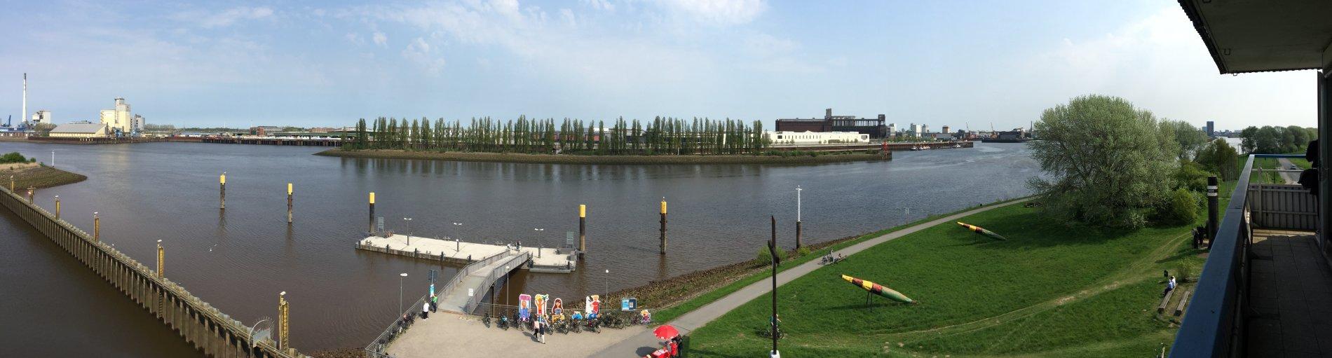 Panorama Blick auf die Weser