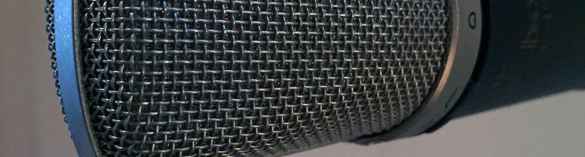 Mikrofon; Wirtschaftsförderung Bremen GmbH; Renate Strümpel