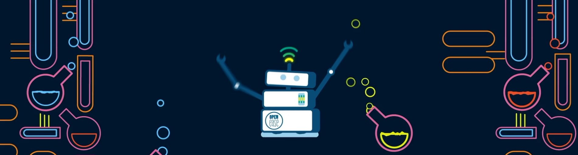 Die Zeichnung eines Roboters im Labor