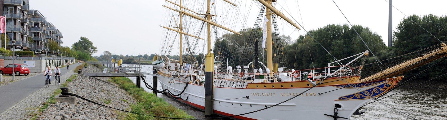 Schulschiff Deutschland in Bremen-Vegeack.