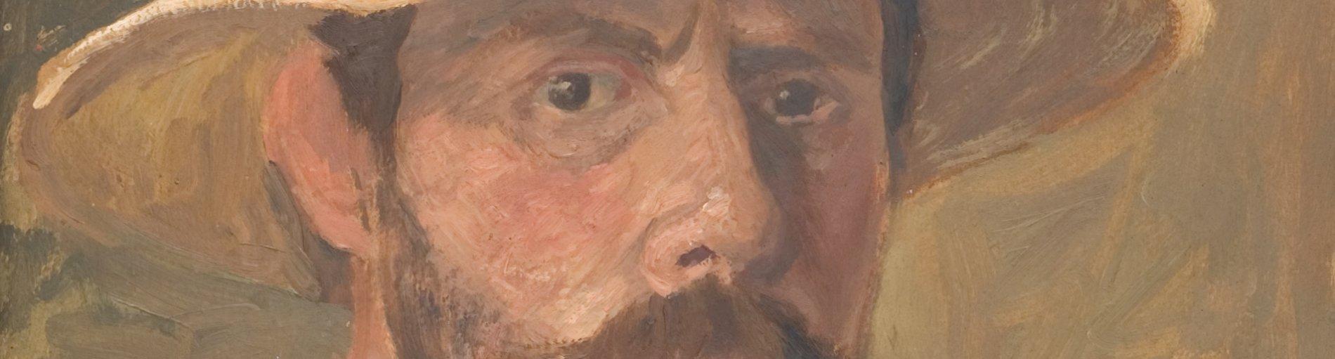 Ein gemaltes Portrait von Fritz Overbeck.