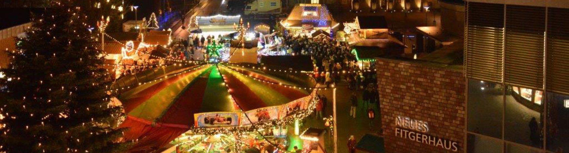 Der Weihnachtsmarkt in Delmenhorst an einem schönen Winterabend