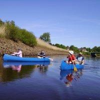 Zwei Kanuboote auf dem Wasser (Quelle: K. Bünn/bremen.online GmbH)