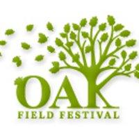 Logo Oakfield Festival, grüner Baum mit grüner Schrift