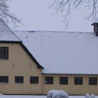 Der ehemalige Aumund-Hof von 1841 im Schnee