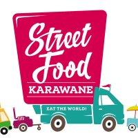 Das Logo der Street-Food-Karawane besteht aus einem pinken Food-Truck.