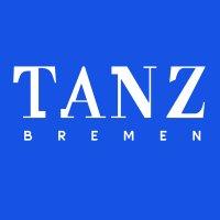 """Das Logo ist der Schriftzug """"TANZ Bremen"""" in weiß auf blauem Hintergrund."""