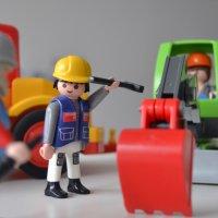 Playmobil Figuren: Baustelle und Bauarbeiter