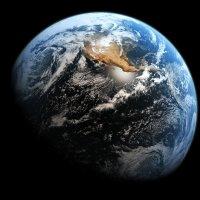 Blick aus dem Weltraum auf die Erde.