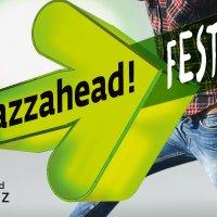 Logo der jazzahead! mit grünem Pfeil.