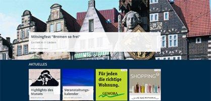 Screenshot Bild von einer Festplatzierung auf bremen.de