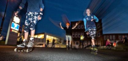 Auf die Rollen, fertig, los - Bei der Happy Skate Night wird ganz Bremen zur Inliner-Bahn.