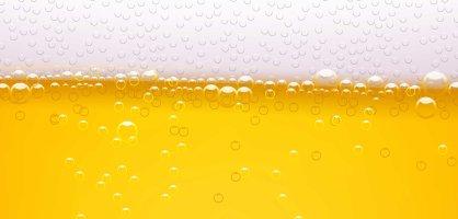 Großaufnahme von Bier mit Blume