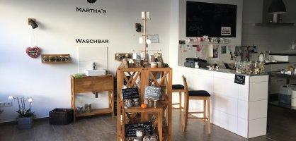 """Die Seifenmanufaktur """"Martha's Corner"""" von Innen. Besonderes Highlight: Eine """"Waschbar"""" zum testen der Produkte."""