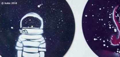 Raumfahrtmotive auf Schallplatten