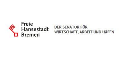 Logo mit Schriftzug: Freie Hansestadt Bremen - Der Senator für Wirtschaft, Arbeit und Häfen