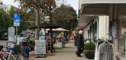 Blick auf einen Einzelhändler in der Wachmannstraße