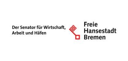 Logo: Der Senator für Wirtschaft, Arbeit und Häfen