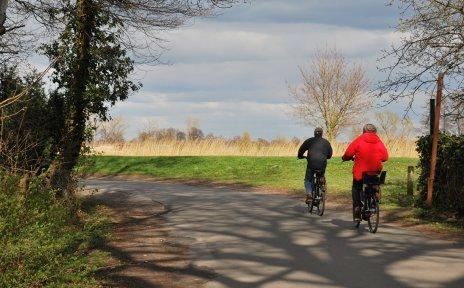Radfahrer, Landschaft, Herbsttag, Ausflug, Herbst