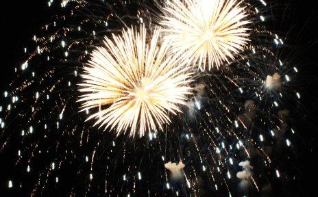 Feuerwerk über Bremen