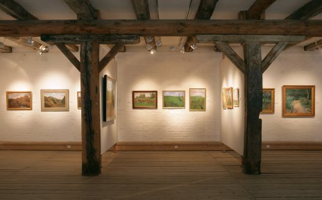 Blick in einen Ausstellungsraum des Overbeck Museums.