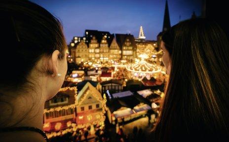Blick auf den Bremer Weihnachtsmarkt