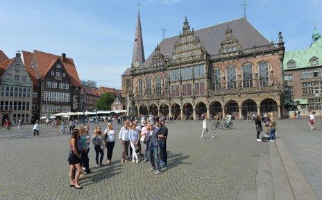 Stadtführung auf dem Marktplatz