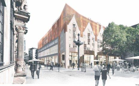 Darstellung der baulichen Veränderungen am ehemaligen Lloyd-Hof Gebäude